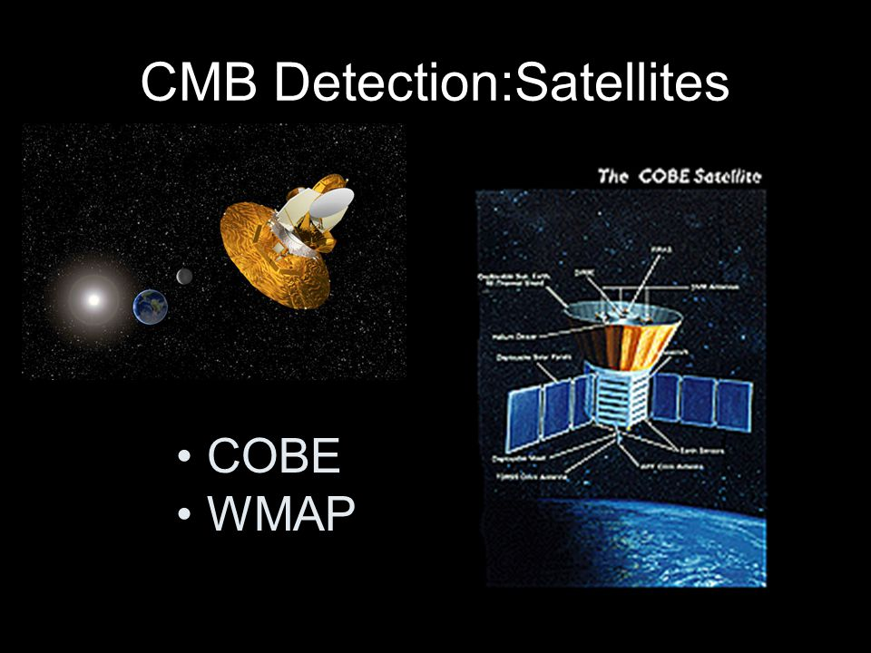 CMB Detection:Satellites COBE WMAP