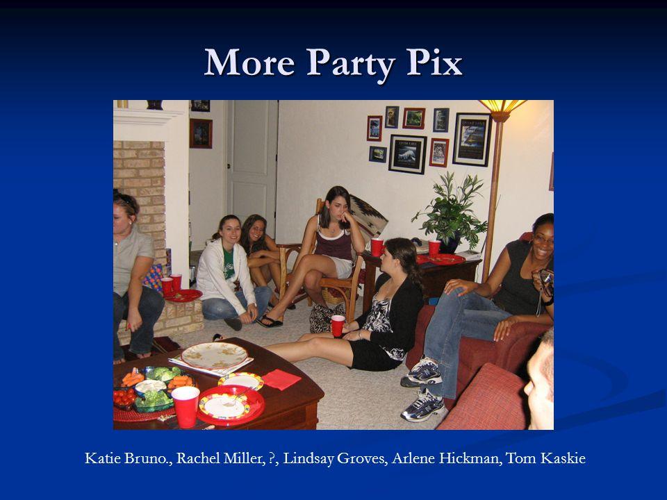 Visitors at the Party Dave Biun, Tegan Biun, Becky Altmann