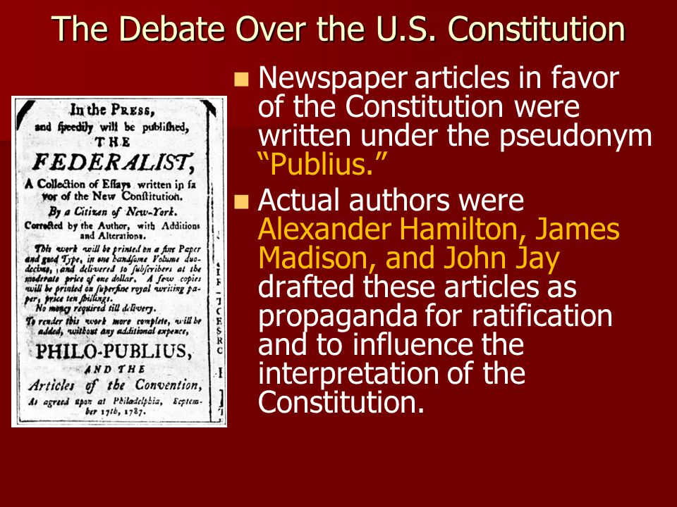 The Debate Over the U.S.