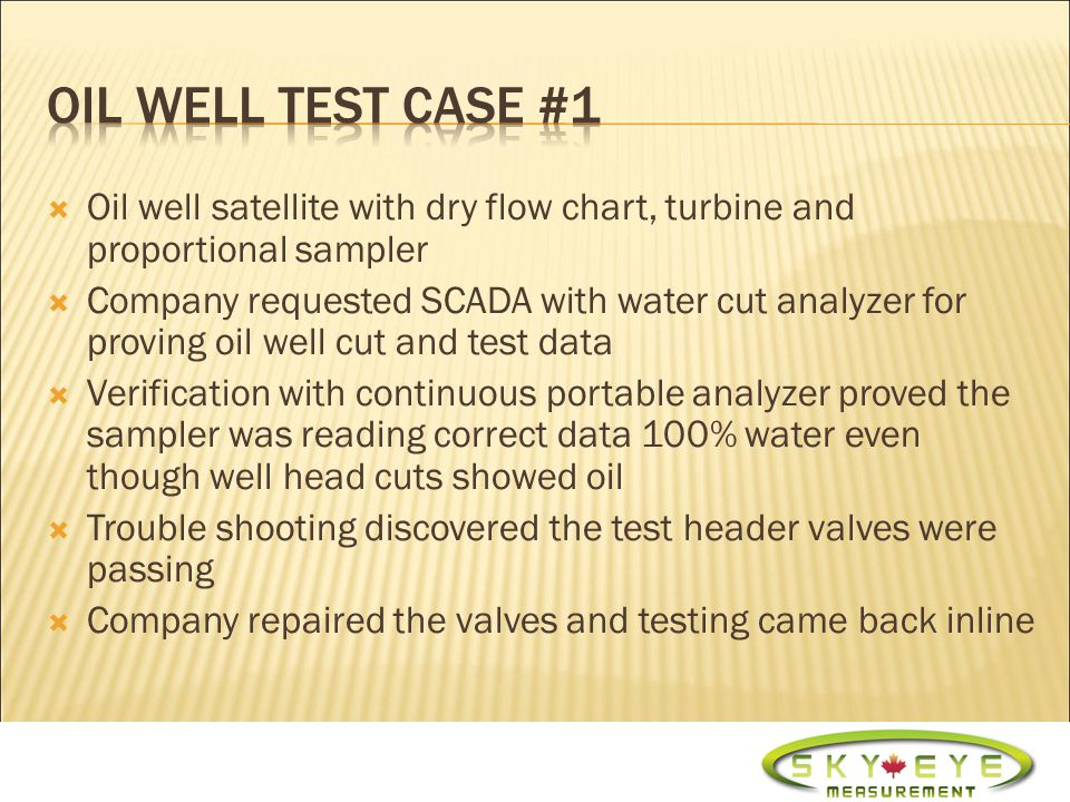 Proration problems Proving oil well cuts Oil well testing 3 phase test data on 2 phase separators