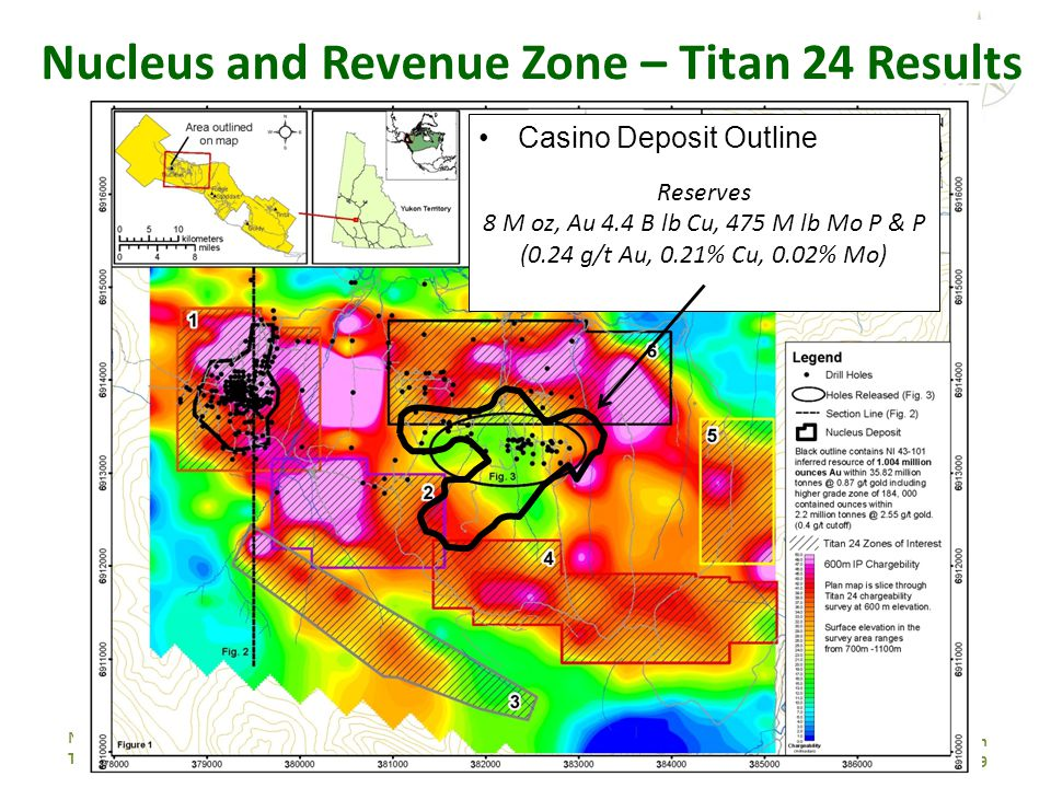 NORTHERN FREEGOLD RESOURCES TSX.V: NFR www. northernfreegold.com 19 Nucleus and Revenue Zone – Titan 24 Results Casino Deposit Outline Reserves 8 M oz