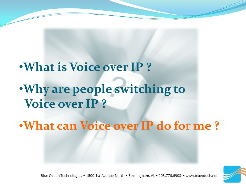 What is Voice over IP . Why are people switching to Voice over IP .