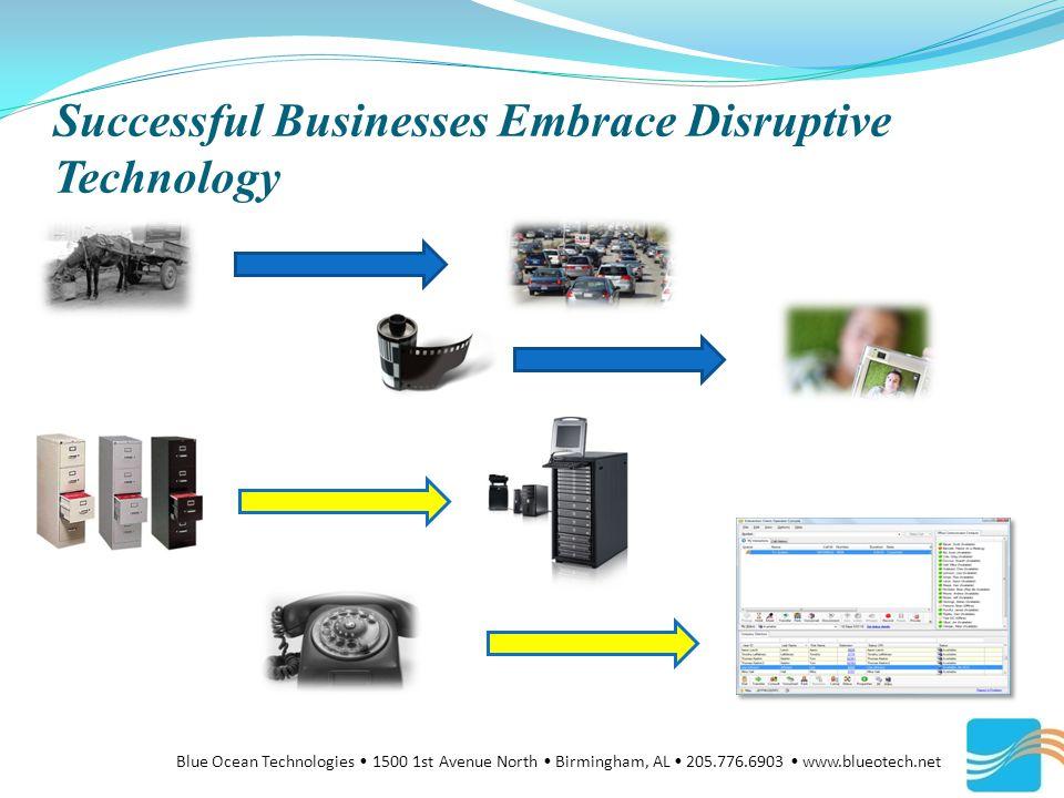 Successful Businesses Embrace Disruptive Technology Blue Ocean Technologies 1500 1st Avenue North Birmingham, AL 205.776.6903 www.blueotech.net