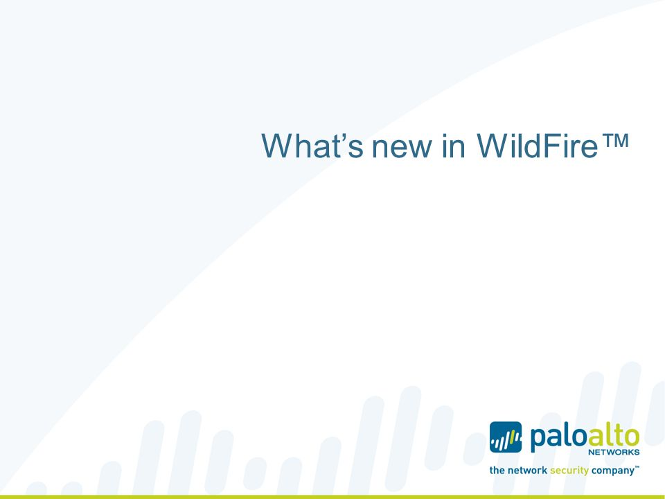Whats new in WildFire