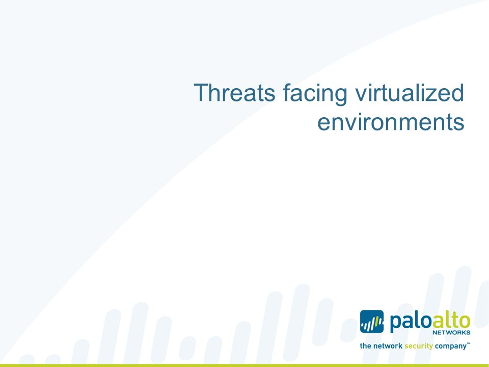 Threats facing virtualized environments