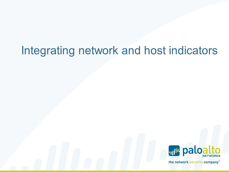 Integrating network and host indicators