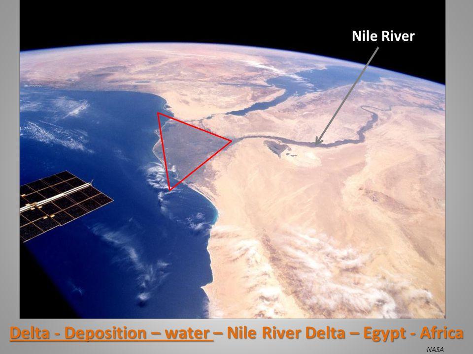 Delta - Deposition – water – Nile River Delta – Egypt - Africa Nile River NASA