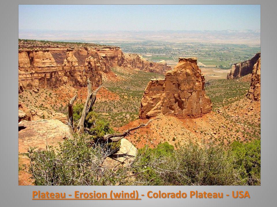Plateau - Erosion (wind) - Colorado Plateau - USA