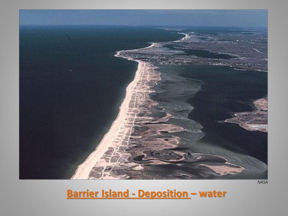 Barrier Island - Deposition – water NASA