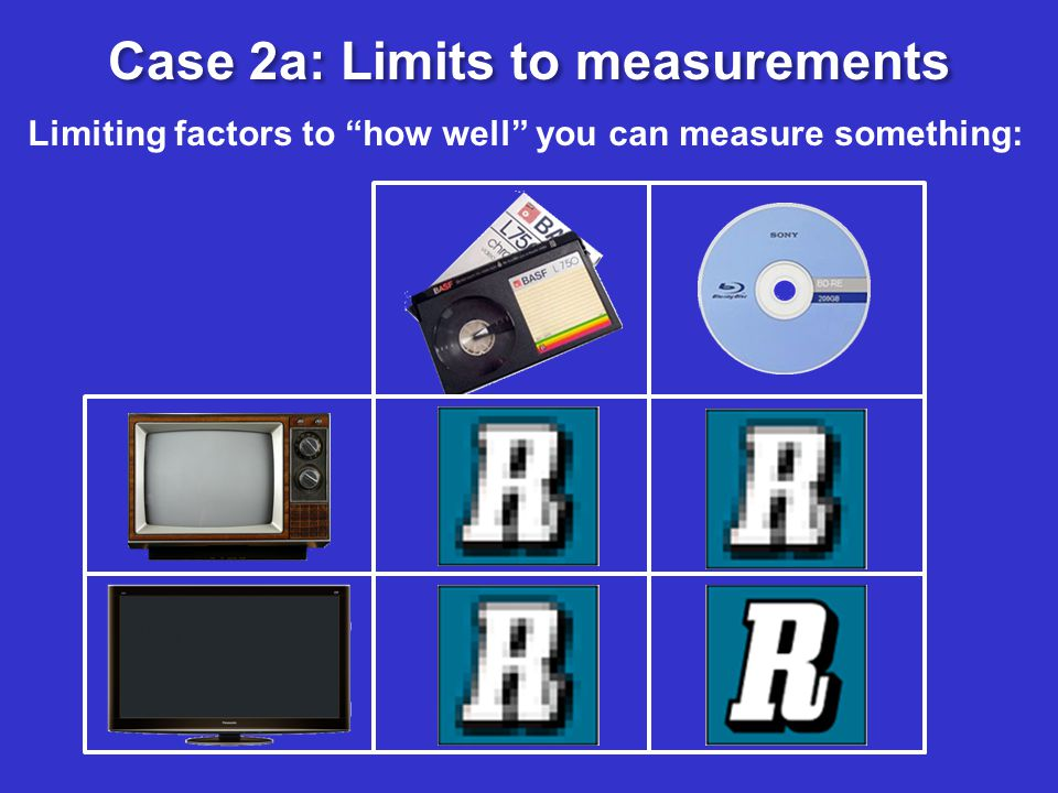 Limiting factors to how well you can measure something: Case 2a: Limits to measurements