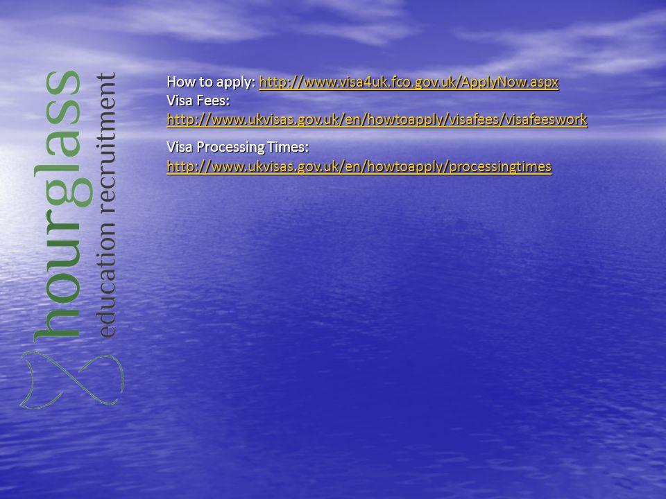 How to apply: http://www.visa4uk.fco.gov.uk/ApplyNow.aspx http://www.visa4uk.fco.gov.uk/ApplyNow.aspx Visa Fees: http://www.ukvisas.gov.uk/en/howtoapp