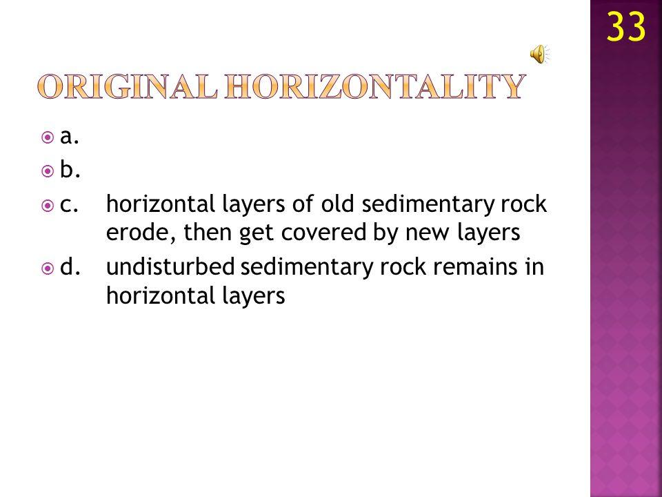a. b.metamorphic rock. c.sedimentary rock. d. 32