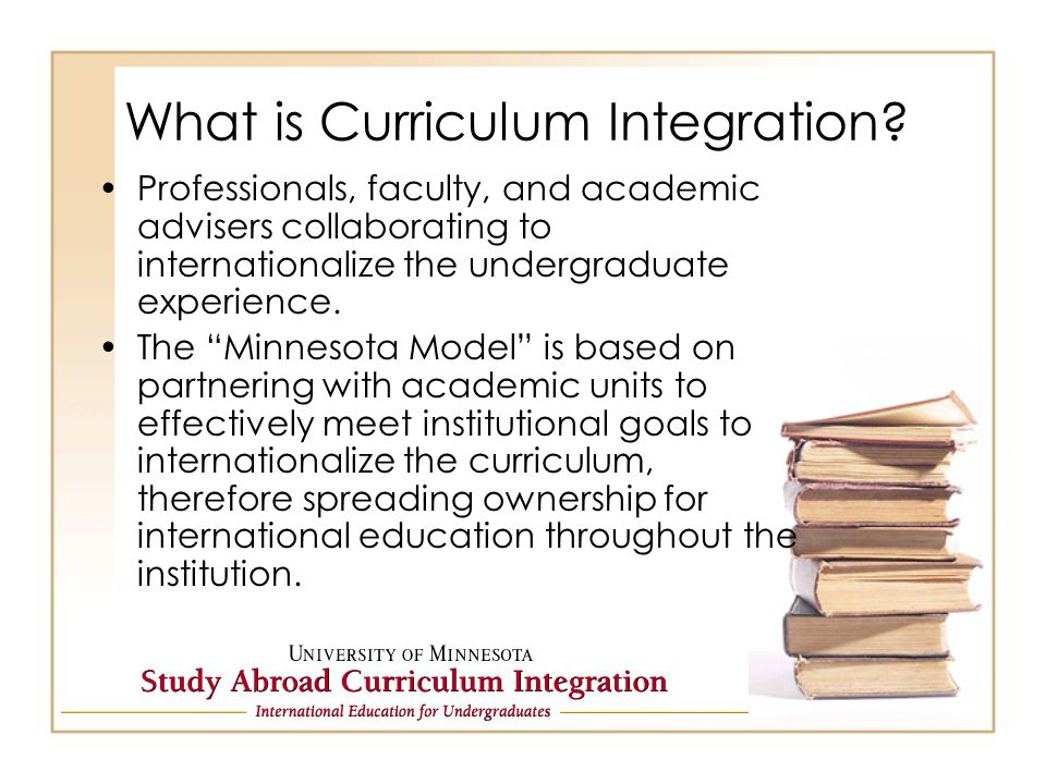 What is Curriculum Integration.