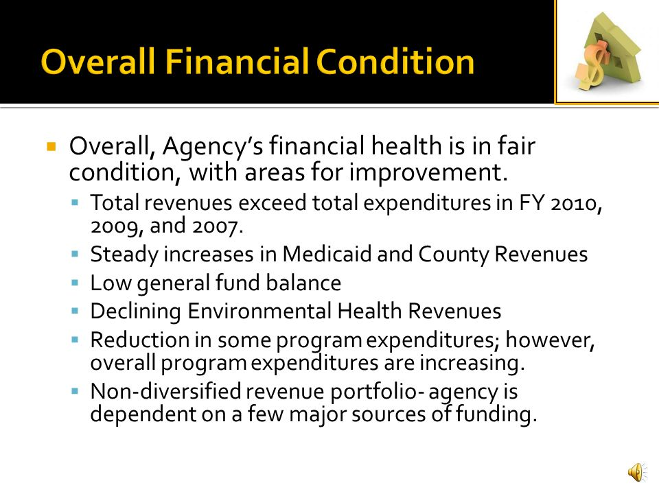 County Finance Officers Report Large deficits in Dental Health and Adult Primary Care at end of FY 2010