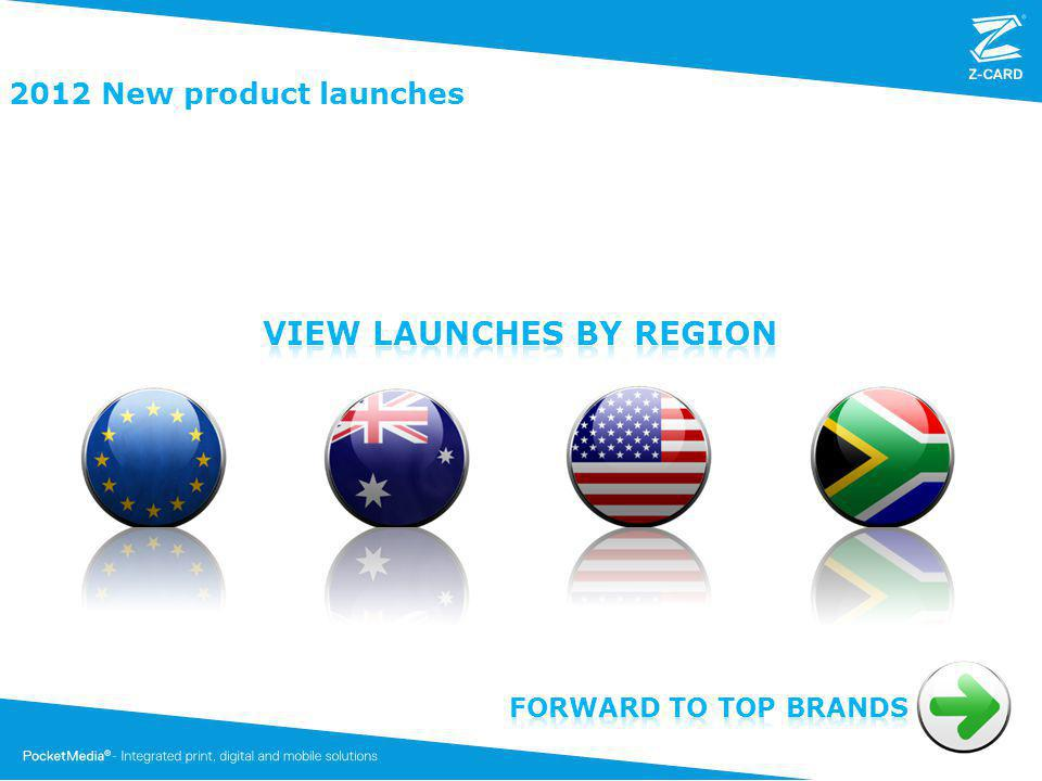 2012 New product launches