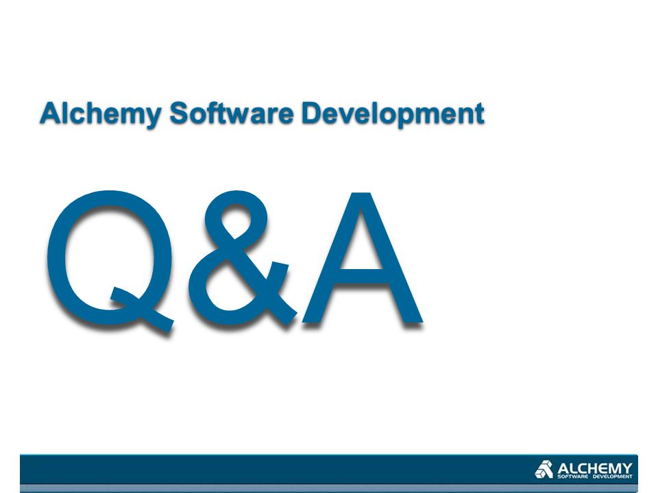 Alchemy Software Development Q&A