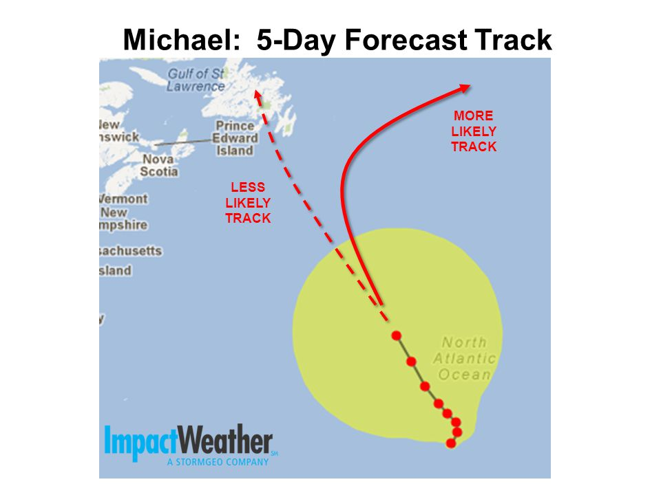 Michael: 5-Day Forecast Track LESS LIKELY TRACK MORE LIKELY TRACK