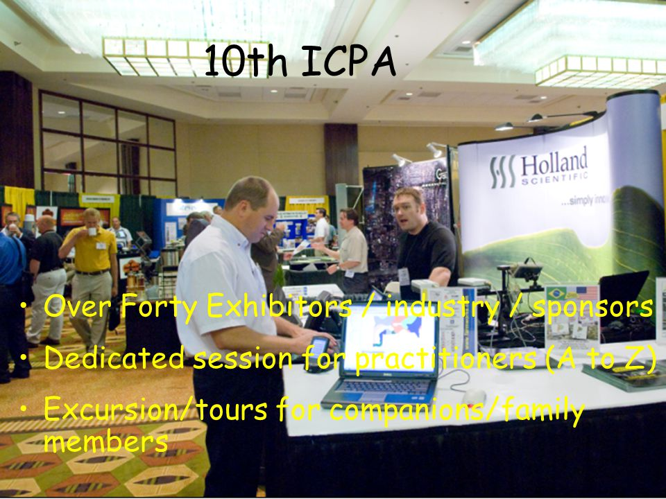 Awards for graduate students & scientists Lower registration fee for students Abstracts Submission Aug 15 th to Oct 31 st Proceedings: CD-Rom proceedings will be available at conference 10th ICPA