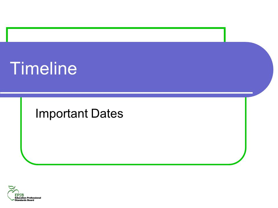 Timeline Important Dates