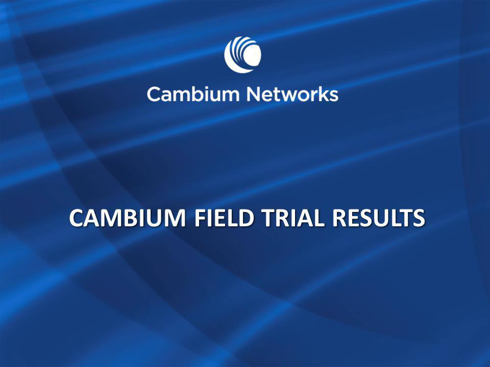 CAMBIUM FIELD TRIAL RESULTS