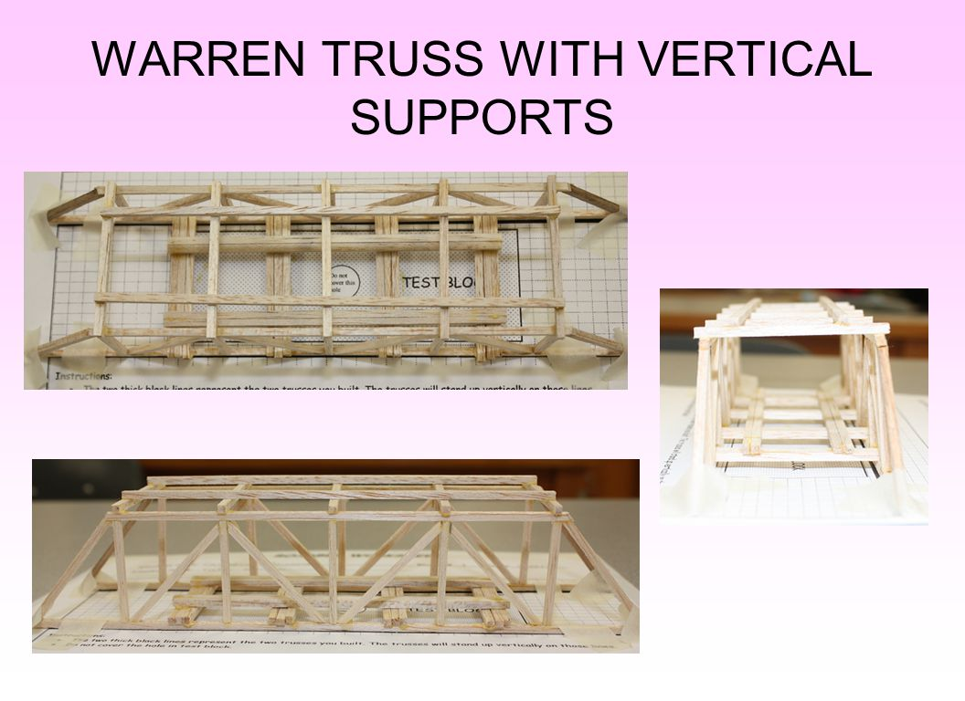 WARREN TRUSS WITH VERTICAL SUPPORTS