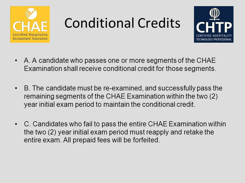 Conditional Credits A.