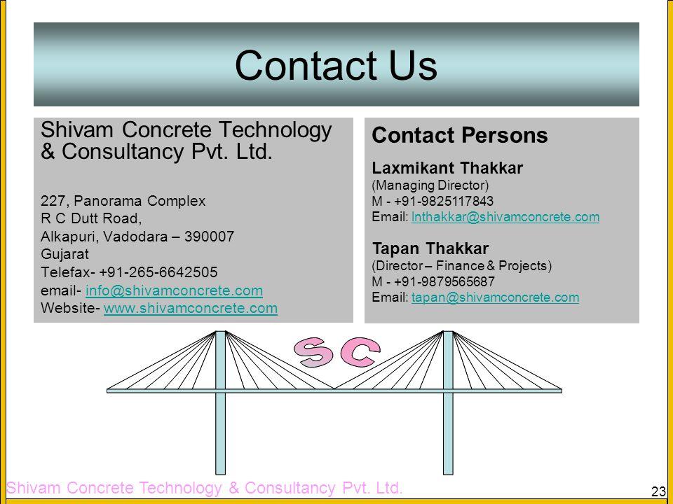 Shivam Concrete Technology & Consultancy Pvt. Ltd. 23 Tapi Old Bridge (Case Study) Contact Us Shivam Concrete Technology & Consultancy Pvt. Ltd. 227,