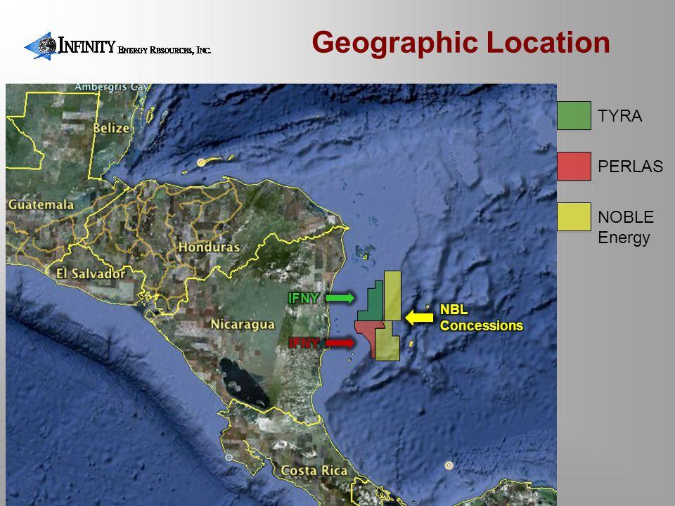 TYRA PERLAS NOBLE Energy Geographic Location