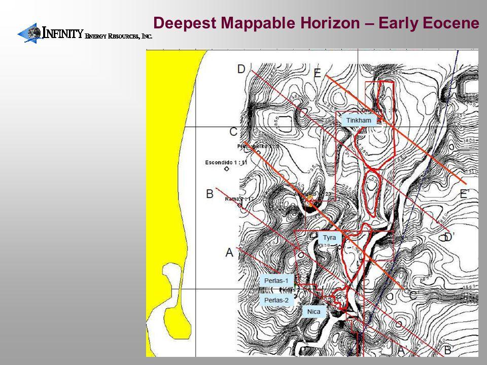 Deepest Mappable Horizon – Early Eocene