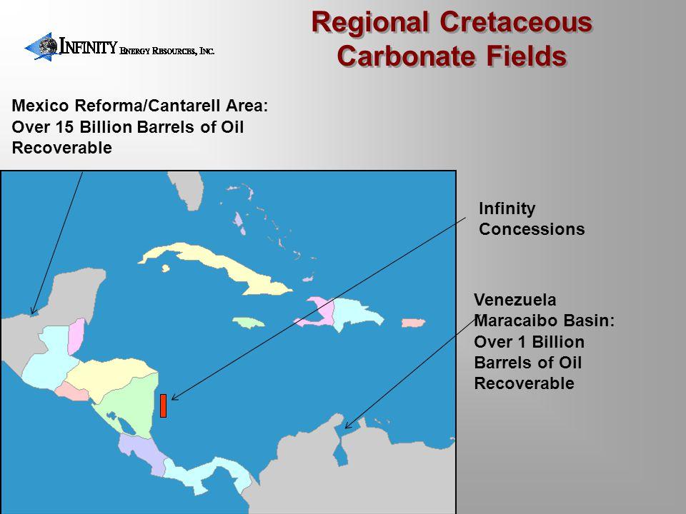 Mexico Reforma/Cantarell Area: Over 15 Billion Barrels of Oil Recoverable Venezuela Maracaibo Basin: Over 1 Billion Barrels of Oil Recoverable Regiona