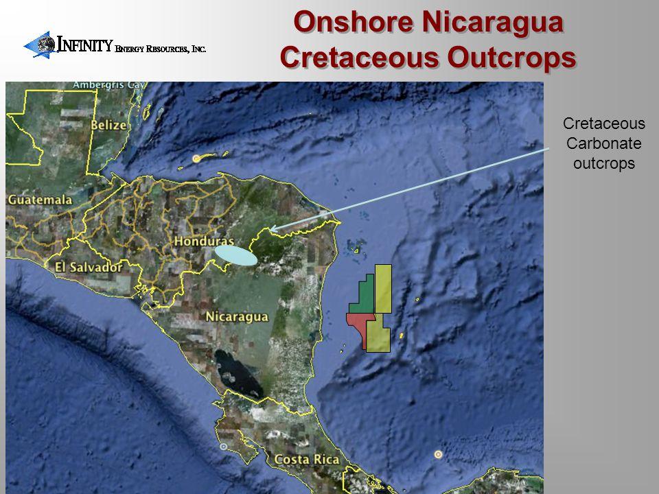 Cretaceous Carbonate outcrops Onshore Nicaragua Cretaceous Outcrops