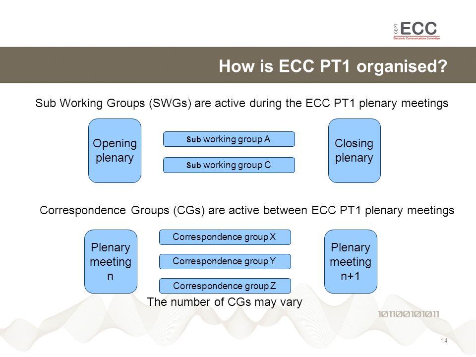 How is ECC PT1 organised.