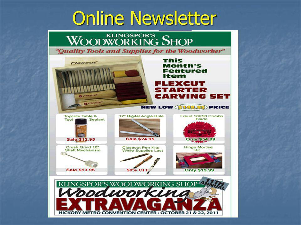 Online Web Store www.woodworkingshop.com