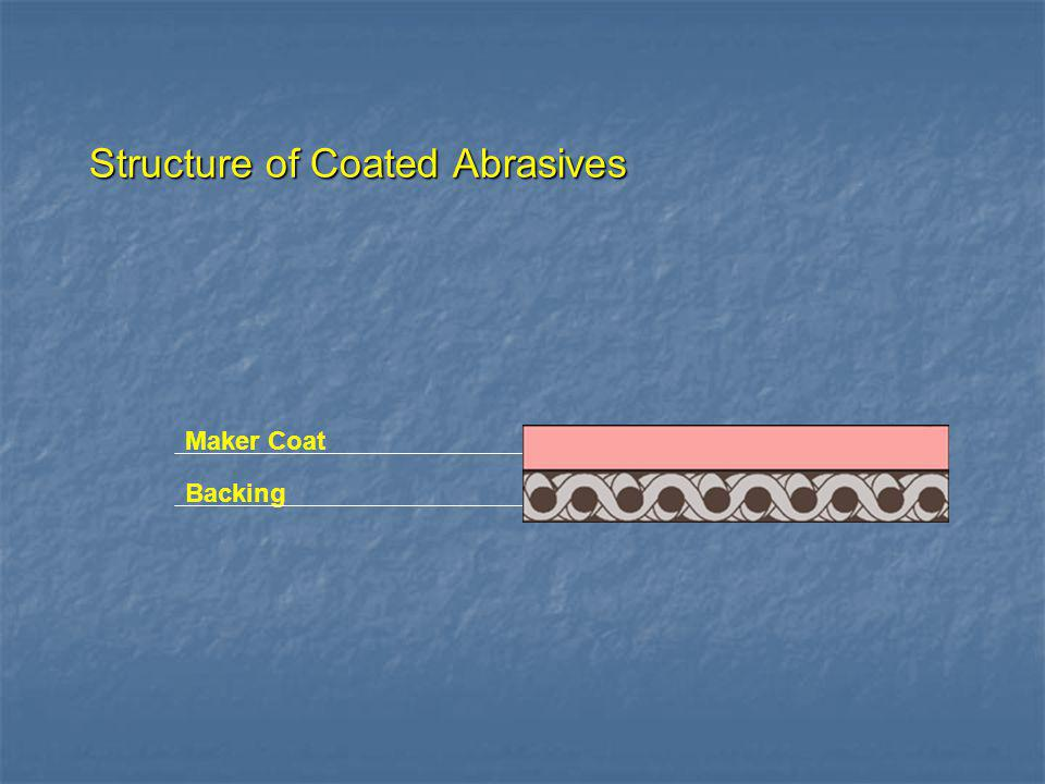 Structure of Coated Abrasives Backing
