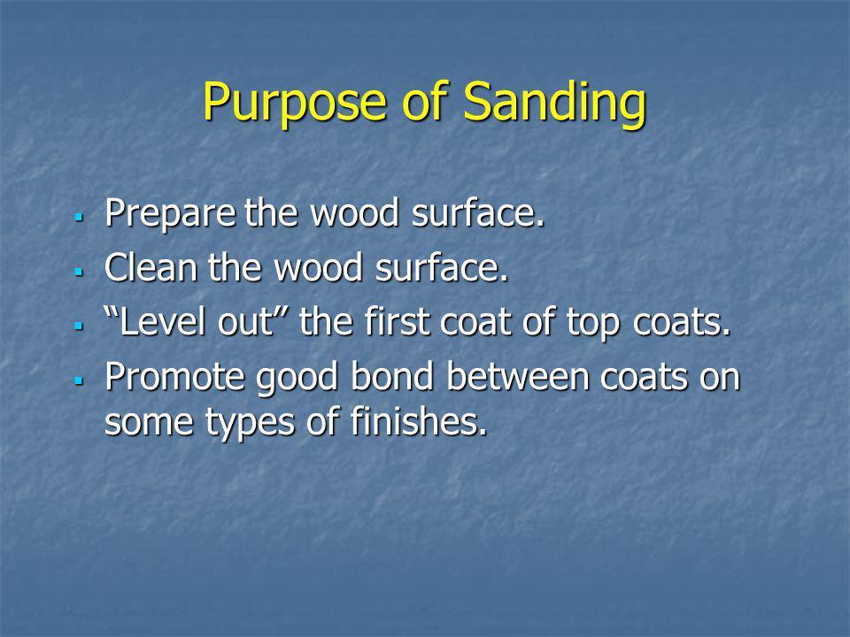 Polishing Final step in finishing using coated abrasives. Final step in finishing using coated abrasives. 150 grit or finer 150 grit or finer In woodw