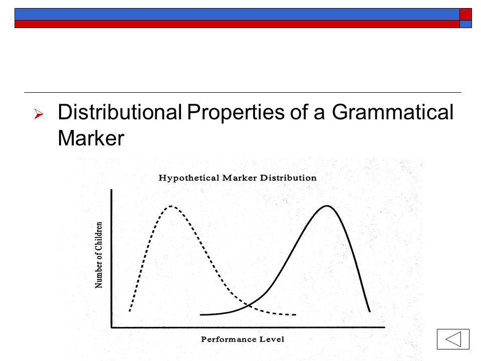 Distributional Properties of a Grammatical Marker