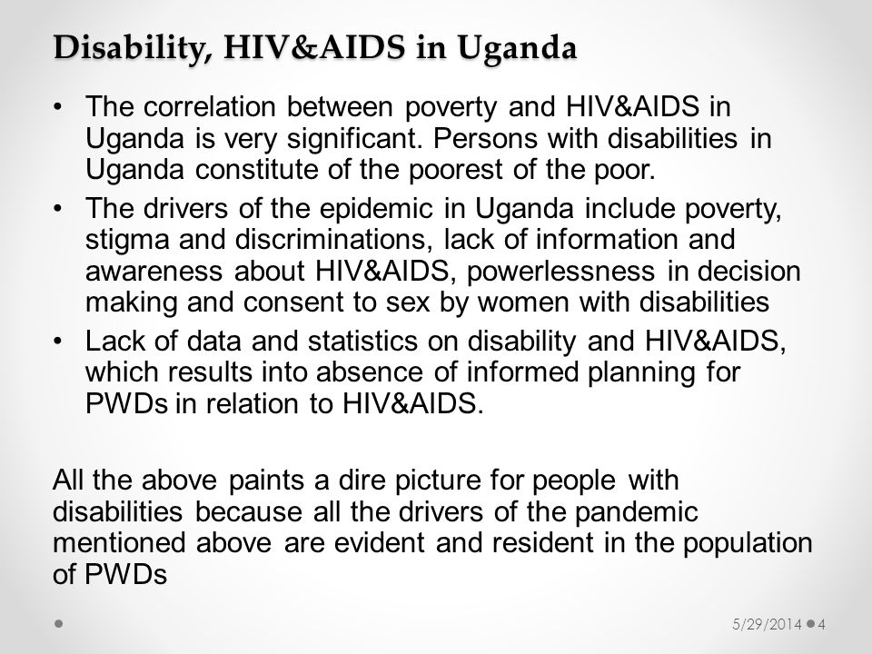 The correlation between poverty and HIV&AIDS in Uganda is very significant.