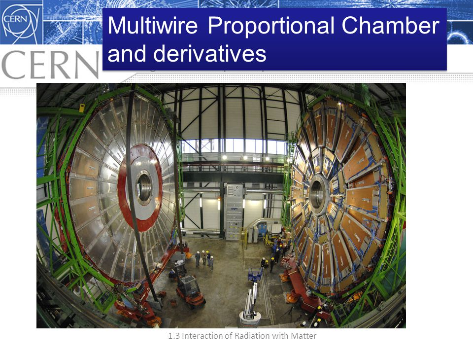 1.3 Interaction of Radiation with Matter Multiwire Proportional Chamber and derivatives Multiwire Proportional Chamber and derivatives