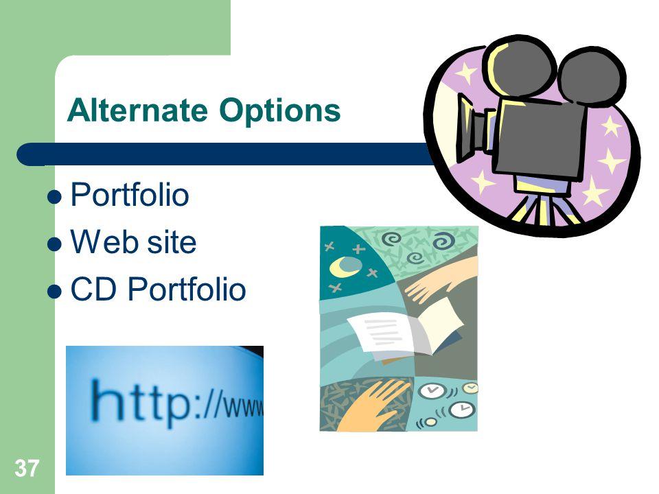 37 Alternate Options Portfolio Web site CD Portfolio