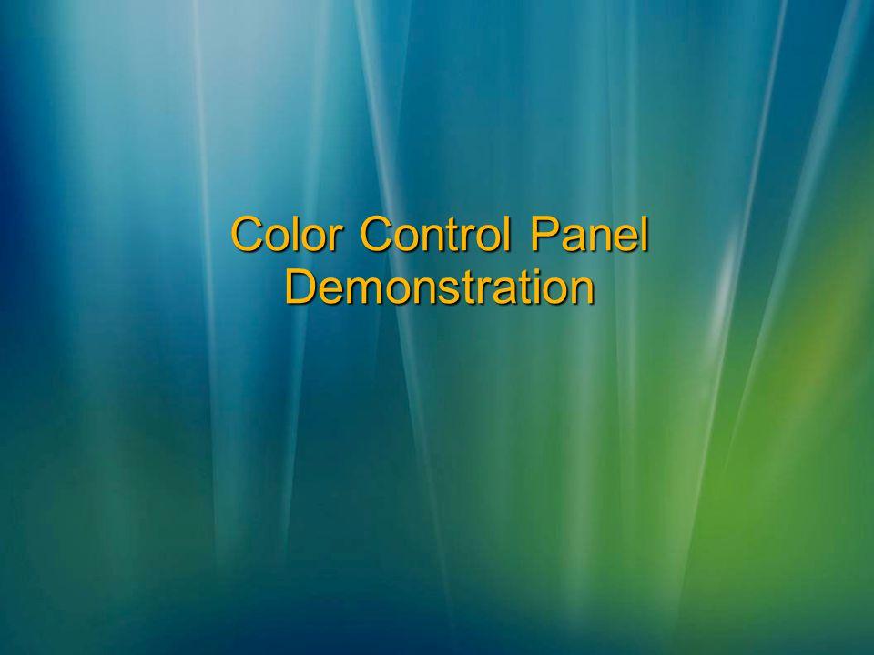 Color Control Panel Demonstration