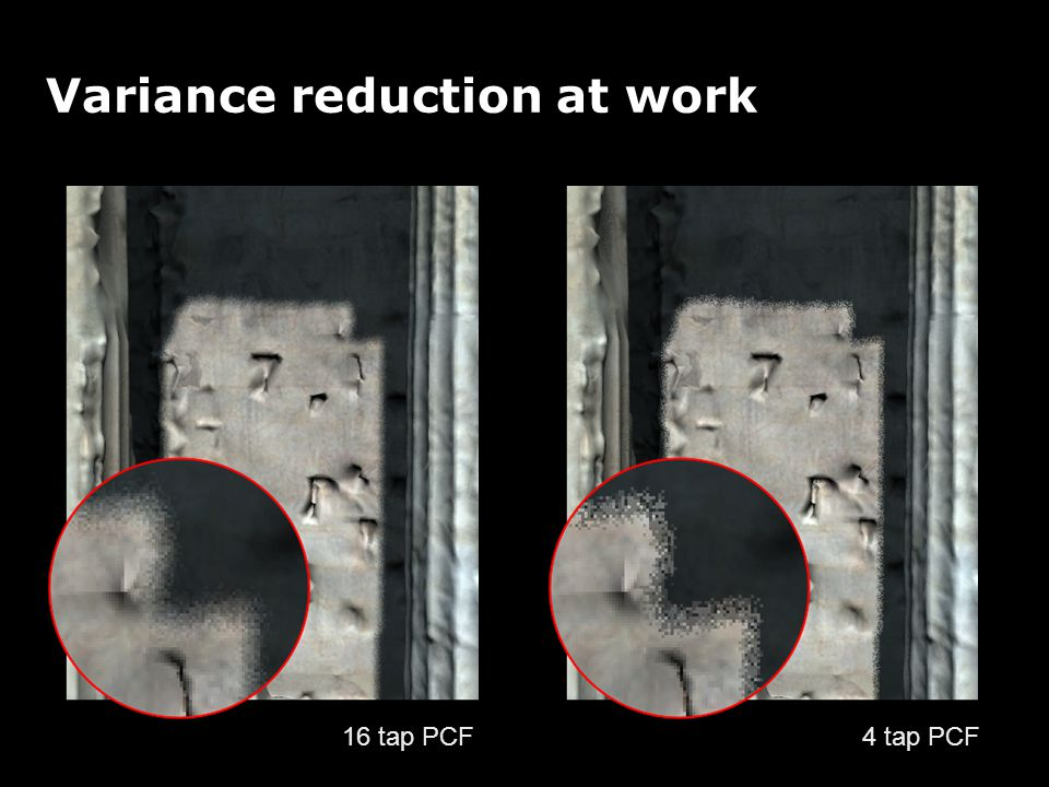 Variance reduction at work 4 tap PCF 16 tap PCF