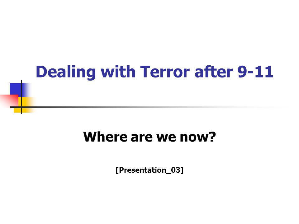 Dealing with Terror after 9-11 Where are we now [Presentation_03]