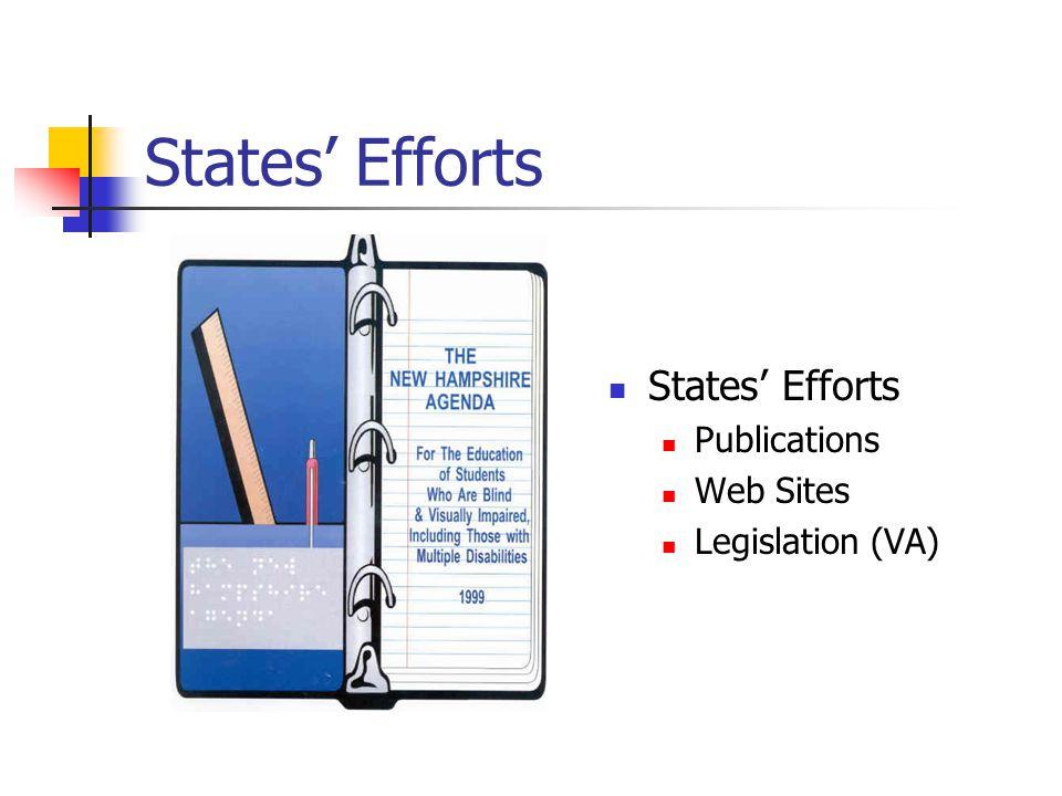 States Efforts Publications Web Sites Legislation (VA)