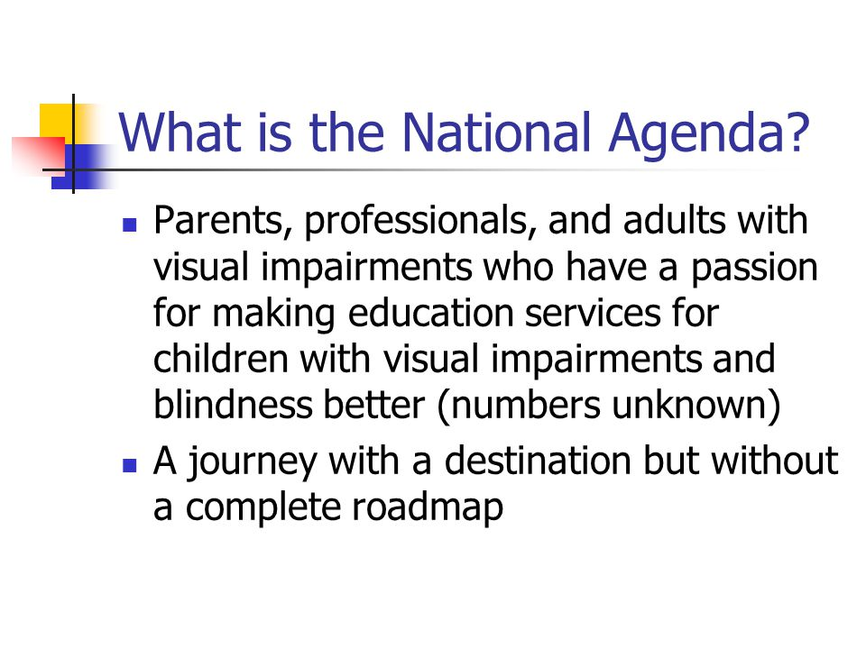 What is the National Agenda.