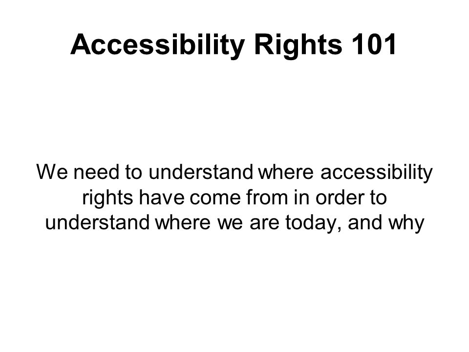 IASR Transportation –will accommodate people with disabilities when the accessibility equipment on the vehicles breaks down –must repair accessibility equipment that is broken as soon as it is practicable –shall establish, implement, maintain and document emergency preparedness and response policies that provide for the safety of persons with disabilities