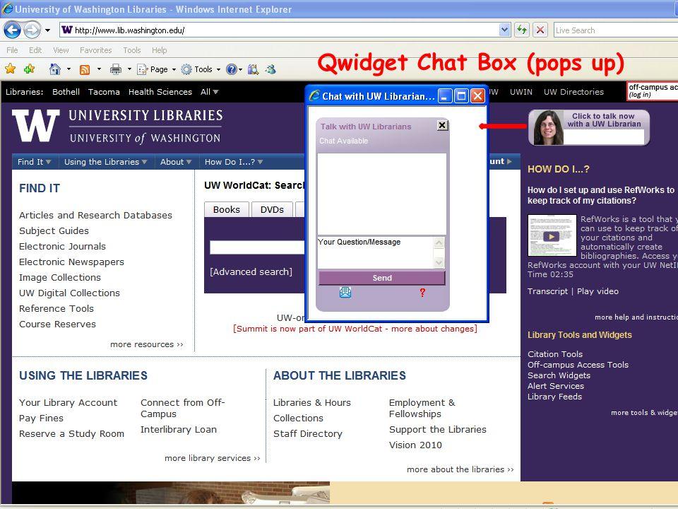 Qwidget Chat Box (pops up)