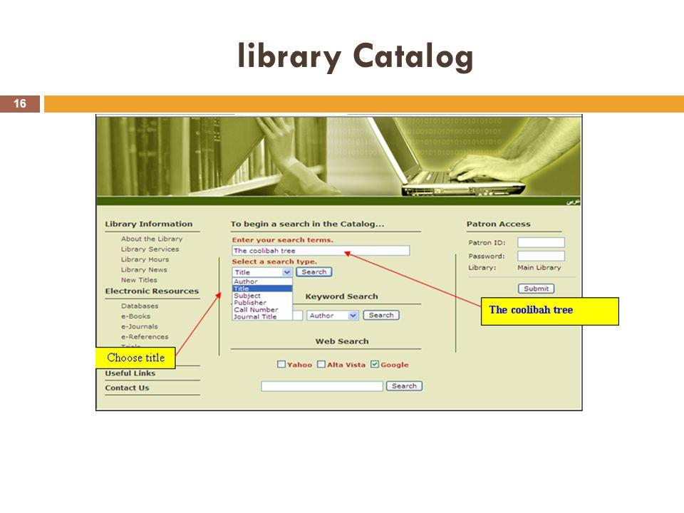 library Catalog 16
