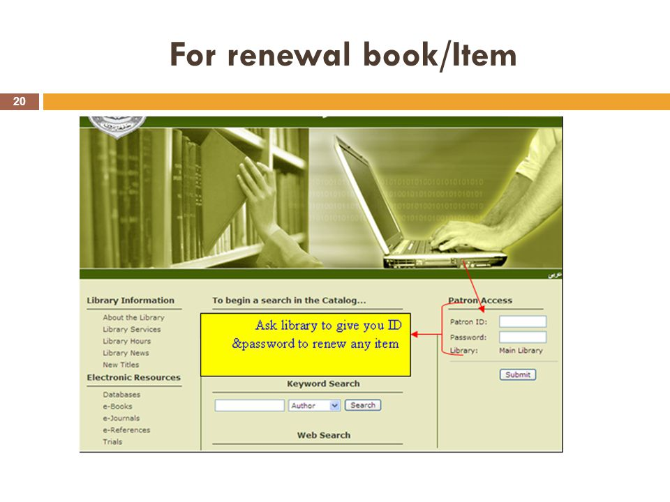 For renewal book/Item 20