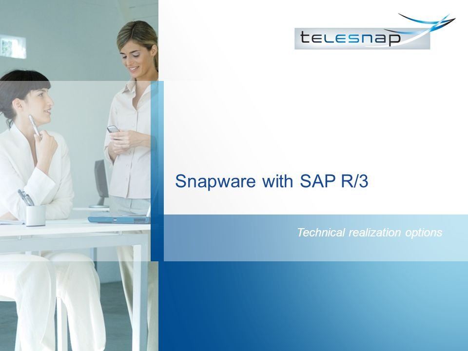 Snapware with SAP R/3 Technical realization options