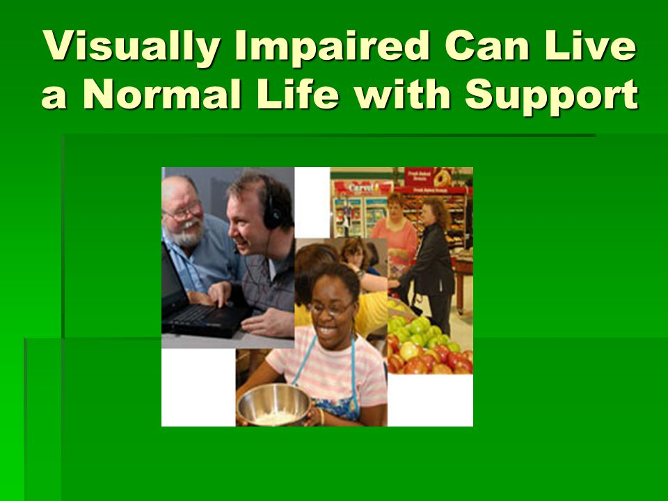 Visually Impaired Can Live a Normal Life with Support